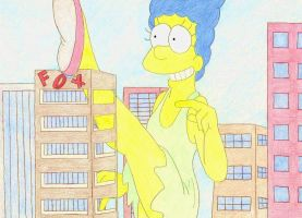 Giantess Marge - Take That FOX by XxSumRaNdOmGuYxX