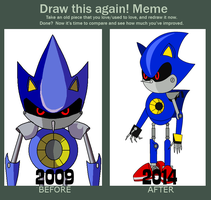 Draw This Again: Metal Sonic by Percyfan94