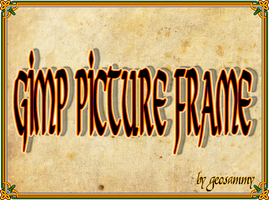Gimp Picture Frame by Geosammy