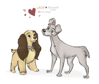 Little Lady and her Tramp by vanipy05