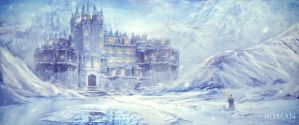 Snowfall Castle by Gorun1