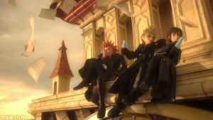 Kingdom Hearts 3D DDD: Axel, Roxas, Xion by GamerGirlX64