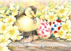 Sleeping Ducky Easter by JoannaBromley