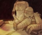 TMNT 2012: Donnie and April by Amfia