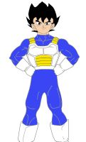 Future Raiden in Saiyan Armor by dbzlover135