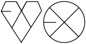 EXO Kiss and Hug Logo ver2 by se7enQueenz
