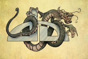 Chinese dragon DA logo by renonevada