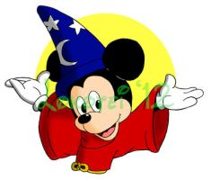Graphic Design - Sorcerer Mickey - 2012 by Lokotei