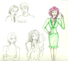 KatPee and Effie Sketches by charmontez