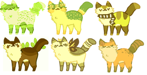 forest kitty adopts! OPEN by meurei