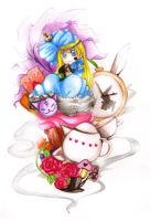 Alice in Wonderland by caylren