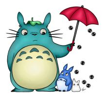 Totoro Umbrella Colored by Book-of-Life