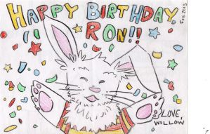 Birthday Card for Ron Beebe by Wukkio