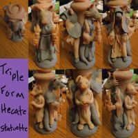 Hecate Triple Goddess (unpainted) by Yoraeryu