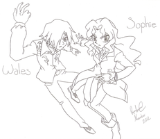 Sophie And Wales Line Art by RyanPaul123