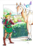 Link and Epona. by Dani-Castro