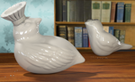 3d porcelain birds by glitterkunt