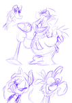 Off Model Muppet Sketches by JoeyWaggoner