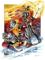 Colossus and Magik by DanielGovar