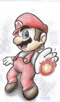 Firey Mario by mosobot64