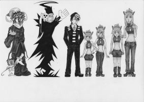 bleach/Soul Eater Black and White 4 by Dragon-flame13