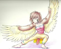 PG: Showing Off Her Wings by Aki-rain