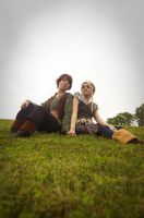 Astrid + Hiccup by Rinachur