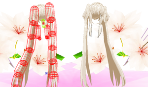 MMD Resource: Long Twin Tails by Shironotenshi