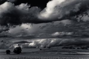 Clouds over fields by oderycke