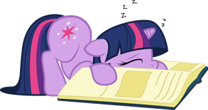 Sleepy bookworm by LazyPixel