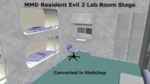 MMD Resident Evil 2 Lab Room Stage DL by swiftcat-mooshi