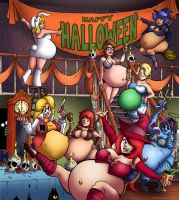 Hilda and Gilda's Halloween Belly Bash by Sidkid44