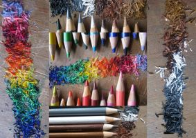 pencil shavings by nightwing6497