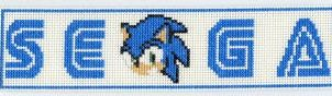 SEGA Sonic Stitch Bookmark by Krissay20