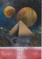 Pyramid and Planets by geologistsrock