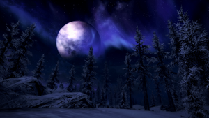 Aurora over a Snowy Forest by p0rtalplayer