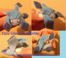 Tiny Glaceon Plushie for sale! by Latiasylveon
