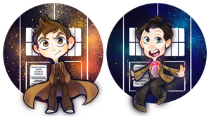 Chibi Doctors - 10 and 11 by mmishee