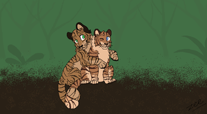 Tiger Couple by ZeeBlinky