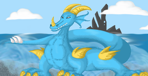 Request: Dragon of the Blue by Doodlz18