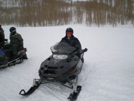 Me Riding Snowmobile by mikebontoft