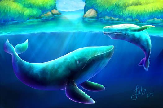 Pacific whales by Jaha-Fubu