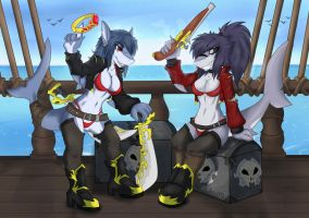 Shark Pirates! [Commission by ALicede