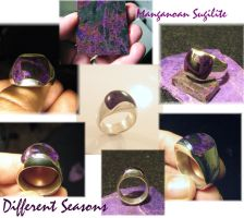 Sugilite Inlay Ring by jessa1155
