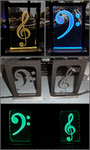 Treble and Bass Clef Lights by ChimeraDragonfang