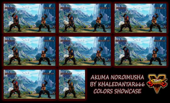 AKUMA NOROIMUSHA COLORS SHOWCASE by Khaledantar666