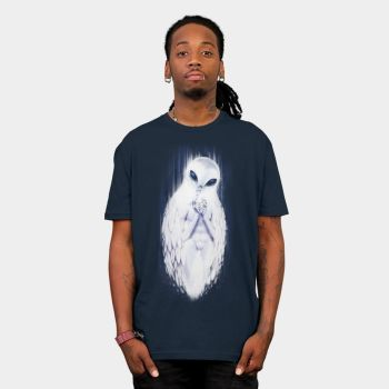 Owl in the Room   T-Shirt by Mickeyns