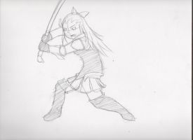 Edea Pose Sketch by Dawnisrising