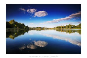 Reflection with clouds by DimensionSeven