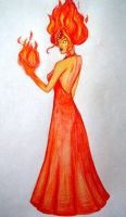 Flame Princess by viazure